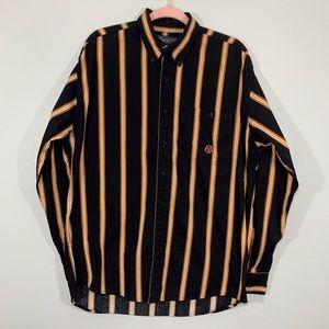 Vintage | Wrangler Striped Yellow Button Down